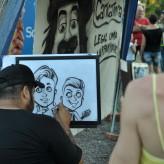 Entre as opções de entretenimento, caricaturistas foram atração - Crédito: Carioca Fotografia