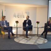 Aline, Scola e Francine interagiram com o público - Crédito: Priscila Rodrigues