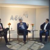Arenhart, Heinze e Bergesch interagiram com o público - Priscila Rodrigues