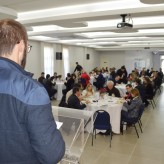 Cerca de 80 lideranças empresarias, políticas e comunitárias acompanharam a palestra - Crédito: Priscila Rodrigues