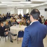 Cerca de 90 lideranças empresarias, políticas e comunitárias acompanharam a palestra - Crédito: Priscila Rodrigues