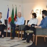 Aline, Troiano, Cecília e Carlessi: público interagiu com os palestrantes - Crédito: Priscila Rodrigues