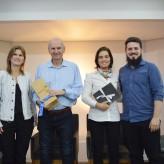 Aline, Troiano, Cecília e Carlessi - Crédito: Priscila Rodrigues