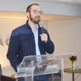 Jornalista Daniel Scola foi o palestrante de RA na Acil- Crédito: Priscila Rodrigues