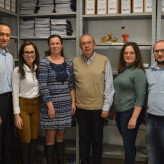 Kopschina com a equipe do escritório regional da Junta Comercial em Lajeado - Priscila Rodrigues.
