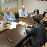 Presidente da Imec, Leonardo Taufer assinou contrato de patrocínio para Expovale - Crédito: Clarissa Jaeger