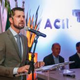 Miguel Arenhart em discurso de despedida -  Crédito: Objetivo Fotografia