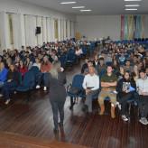 Nove turmas de Ensino Médio acompanharam as palestras do Programa - Crédito: Lucas Santos