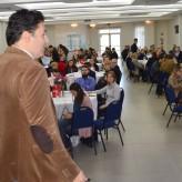 Público ouviu atento as informações sobre rotina e estratégia de marketing - Priscila Rodrigues