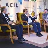 Presidentes da CIC VT, Ito Lanius, e Acil, Miguel Arenhart, com Nogueira - Crédito Priscila Rodrigues