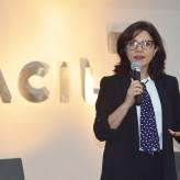 Carolina, editora-chefe e colunista da sucursal RBS Brasília, foi a palestrante na Acil - Crédito fotos Priscila Rodrigues