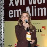 Engenheira de alimentos Carolina Melo falou sobre produtos com proteínas vegetais e o poder das leguminosas - Crédito: Simone Rockenbach