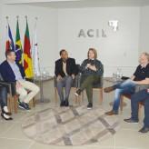 Empresários e pesquisadores debateram compromissos com o desenvolvimento sustentável (esq p/ dir.: Kelli, Heineck, Soares, Júlia, Grando e Martins) - Crédito: Priscila Rodrigues